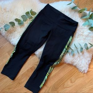 Lululemon💕Side Printed Stripe Leggings Cropped